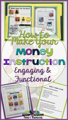 How to Make Your Money Instruction Engaging & Functional Our students in special education really need to learn effective money skills that will serve them through their lives. In order to do that we need to make sure we are teaching it at all different a Life Skills Classroom, Teaching Life Skills, Life Skills Lessons, Teaching Tools, Money Activities, Life Skills Activities, Special Education Activities, Special Education Classroom, Autism Classroom