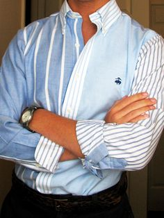 Brooks Brothers ... Love the use of colors and stripes.