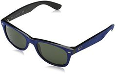Womens Sunglasses |  RayBan Womens New Wayfarer Square Sunglasses BlackTop Blue Alcantara 52 mm >>> You can get additional details at the image link.-It is an affiliate link to Amazon. #WomensSunglasses