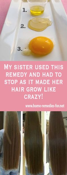 My sister used this remedy and had to stop as it made her hair grow like crazy! - Home Remedies