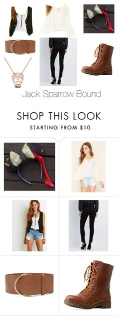 """Jack Sparrow Bound"" by disneyboundqueen on Polyvore featuring Forever 21 and Bamboo"