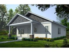 **Peppermint Spring Cottage Home  from houseplansandmore.com 1200 sq ft  extend the porch