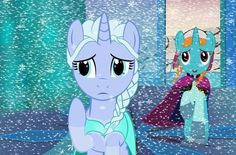 My little pony crossed with frozen.