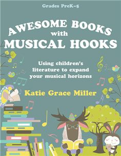 This collection of lesson ideas from author and educator Katie Grace Miller will make practicing music concepts fun and enjoyable in a whole new way. Using picture books, you can capture children's attention and find creative ways to add music elements. Whether you're teaching fifth graders to play an Orff bordun or helping preschoolers discover the difference between short and long sounds, you will find something to help you in this resource treasure. It includes a CD-ROM with digital files of Kindergarten Music, Preschool Music, Music Activities, Teaching Music, Teaching Resources, Learning Guitar, Teaching Reading, Music Lessons For Kids, Music Lesson Plans