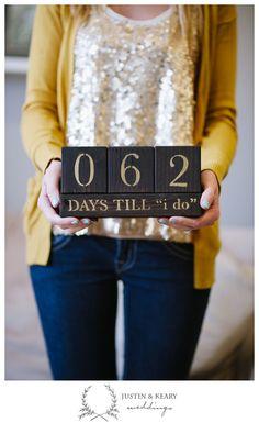 wedding countdown blocks - great gift idea
