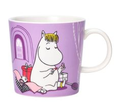 "The new 2020 edition Snorkmaiden Lilac Moomin mug by Arabia. The illustration of Snorkmaiden comes from a drawing in the 1955 comic book ""Moomin on Moomin Books, Moomin Mugs, Moomin Shop, Moomin Valley, Tove Jansson, Lilac, Purple, Marimekko, Wonderful Images"
