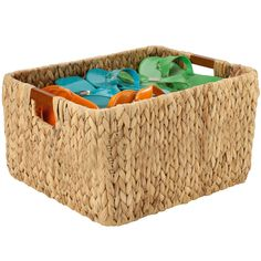 Keep your closet bathroom counter or shelf looking neat and organized by storing small accessories inside the Banana Leaf Storage Basket.