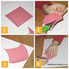 Very clever way to make creative tessellations - simple.  Math & Art.  Tessellation Activity instructions