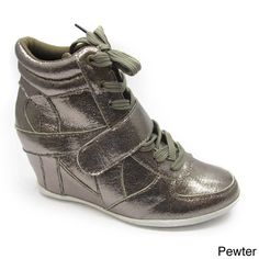 9b29cf89cb7c9e Blue Women s  Ryker-Shine-2  Wedge Sneakers Metallic Wedges