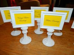I needed some inexpensive labels for my booth this past week.   I wanted something classy, affordable and something that I could reuse.   I...