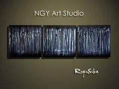 NGY12 X 36  Original  Fine Art Triptych Painting by NGYartstudio, $99.00