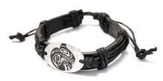 Leather Bracelet - Grizzly Bear by Trevor Angus