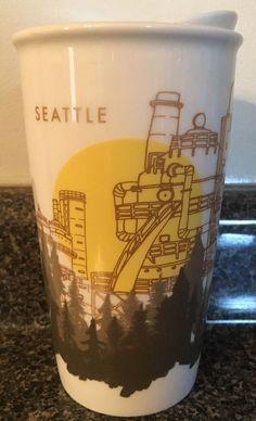 Starbucks Travel Mug Tumbler 2015 12 oz Ceramic Seattle City Limited Edition   eBay