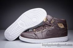 7586cd806ff Men's Air Jordan 1 Authentic AJ1 Pinnacle Jordan 1 Basketball Shoes High  Top Brown|only