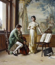 """Studying the Master"" by Carl Zewy (1855-1929). - Pinterest"