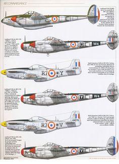 P-38 e P-51.