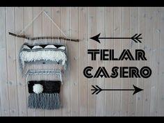DIY Telar casero - Cómo hacer tu propio tapiz casero - YouTube