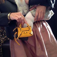 Penelope's little Balenciaga bag I got her for Christmas