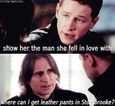 Once Upon a Time - HAHAHAHAHAHAHAHAHA!  What we all knew Rumple was thinking.