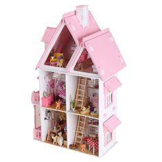 Free Shipping Assembling DIY Miniature Model Kit Wooden Doll House, Unique Big Size House Toy With Furnitures for Birthday Gift   Price: US $42.73   http://www.bestali.com/goto/815681333/10