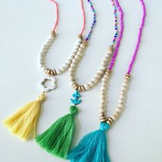 Bohemian jewelry for your little Belle. Each necklace is handmade with love from South Carolina! Kids- Little girls beaded tassel necklace   Instagram & FaceBook @CarolinaBohoBelle www.carolinabohobelle.bigcartel.com