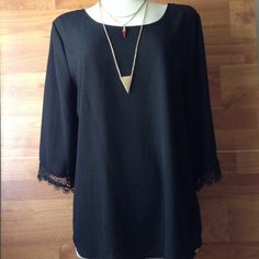 Black top New  Size 1x 100% poly Tops Blouses