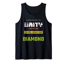 Love, Peace & Unity is Better than Silver, Gold & Diamond Tank Top MUGAMBO