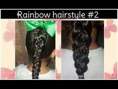 Rainbow hairstyle #2 - YouTube