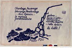 [Mai 1968]. Chantage, truquage, découpage... (les grenouilles), Atelier populaire : [affiche] / [non identifié]