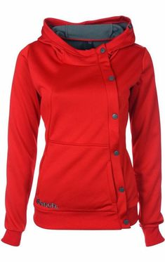 Perfect comfy red hood fashion style