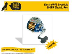 Dinga Fishing & Stuff offers one day deal on WFT Electra Speed Jig 700PR Electric Reel at very affordable prices. These Reels are built around a high performance Japanese motor that runs on 12V DC power.