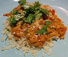 Dr. Phil 20/20 Diet Recipes - Coconut-Curry Lentil Stew Served over Quinoa