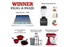 Expired* New January Prize Giveaway win 1 of 5 prizes including an Apple iPad Air 16gb or a VitaMix Turbo VS