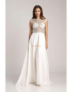 Výstřih do U Šifón S hlubokým výstřihem na zádech Svatební šaty 2015