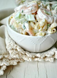 Aunt Bee's Shrimp and Pasta Salad - The Seasoned Mom