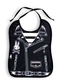 Six Bunnies Rocker Jacket Bib Tattoo Punk Rockabilly Baby Alternative Rock Black Rockabilly Baby, Rockabilly Outfits, Rockabilly Clothing, Girl Clothing, Biker Baby, My Baby Girl, Baby Love, Goth Baby Clothes, Babies Clothes