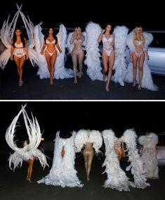 Kardashian-Jenner Sisters Ace The Best Halloween Looks As Victoria's Secret Angels Kardashian Halloween Costume, Angel Halloween Costumes, Best Celebrity Halloween Costumes, Halloween Outfits, Kendall Jenner Halloween, Halloween Parties, Women Halloween, Koko Kardashian, Estilo Kardashian