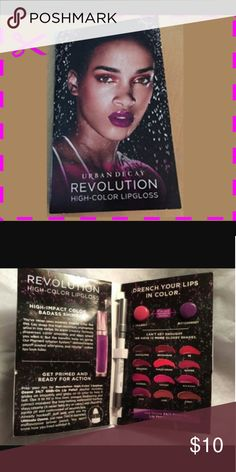 URBAN DECAY Revolution High-Color Lipgloss Brand New. Comes as shown.  Includes: Glide-on Lip Pencil  2 Shades of Gloss Urban Decay Makeup Lip Balm & Gloss