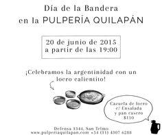 ¿Cómo vas a festejar el #DiaDeLaBandera? En la Pulpería tenemos Locro calentito  http://pulperiaquilapan.com/event/dia-de-la-bandera-con-locro/?instance_id=4747555