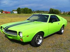 1968 AMC AMX. American Motors muscle car entry.