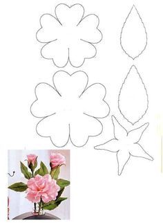 837 best templates images on pinterest in 2018 paper flowers diy crepe paper flowers felt flowers paper roses diy flowers fabric flowers mightylinksfo