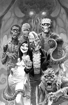 "cooketimm: "" Creepy #15 (2009) frontispiece by Bruce Timm """