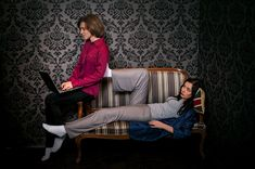 """""""Sherlock BBC"""" cosplay (female version) """"Double N"""" project fem-Sherlock by Silent Rip fem-John by me make up by me too )) photo by Roman Gloss Mmm. her long legs ^_^ Sherlock Cosplay, N Project, John Watson, Long Legs, Sherlock Holmes, Fandoms, Deviantart, Female, Roman"""