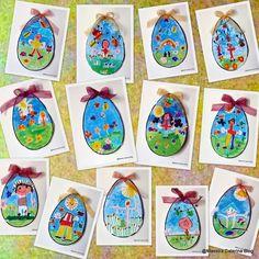 Abbiamo deciso di preparare   delle uova per la Pasqua   con una tecnica particolare   mai sperimentata prima.      Colori...