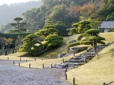 Gardens of Japan Japan Landscape, Landscape Design, Garden Design, Japan Garden, Hillside Landscaping, Sloped Garden, Garden Trees, Garden Plants, Parcs