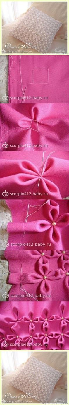 DIY Pillows diy sew easy crafts sewing how to tutorial home crafts diy sewing sewing crafts Smocking Tutorial, Smocking Patterns, Diy Tutorial, Sewing Patterns, Pillow Tutorial, Fabric Crafts, Sewing Crafts, Sewing Projects, Diy Projects