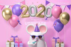 신년캐릭터 010 FUS287, 유토이미지, 그래픽, 인쇄, 편집, 편집포토, 고해상, 합성, 비주얼, 3d, 배경, 백그라운드, 캐릭터, 신년, 새해, 경자년, 설날, 쥐, 마우스, 동물, 귀여운, 풍선, 타이포, 숫자, 2020, 파티, 선물, 생일, 깃발, 리본, 3D, FUS287a Chinese New Year 2020, Happy New Year 2020, Downy, 3d Artwork, 3d Character, Slot Machine, Motion Design, Graphic Design Inspiration, Event Design