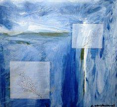 Vinduer 2 Olie på plade  (40x40) 2003 af Svend Christensen