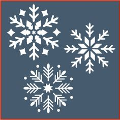 Snowflake Stencil Sets 1 3 A 10 Savings Christmas The Artful Stencil Christmas Stencils, Christmas Snowflakes, Christmas Crafts, Christmas Decorations, Christmas Ornaments, Christmas Stockings, Stencil Templates, Stencil Patterns, Craft Stencils