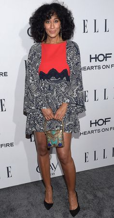 Tracee Ellis Ross attends Elle's Women in Television dinner in West Hollywood on Wednesday.